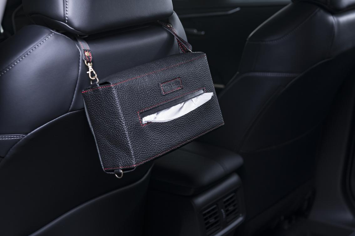 Seat Leather Tissue Case シートに掛けるレザーティッシュケース