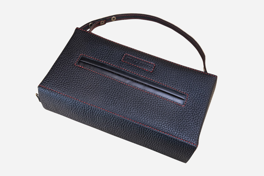 <small>Accessory</small><br> Seat Leather Tissue Case Brownie