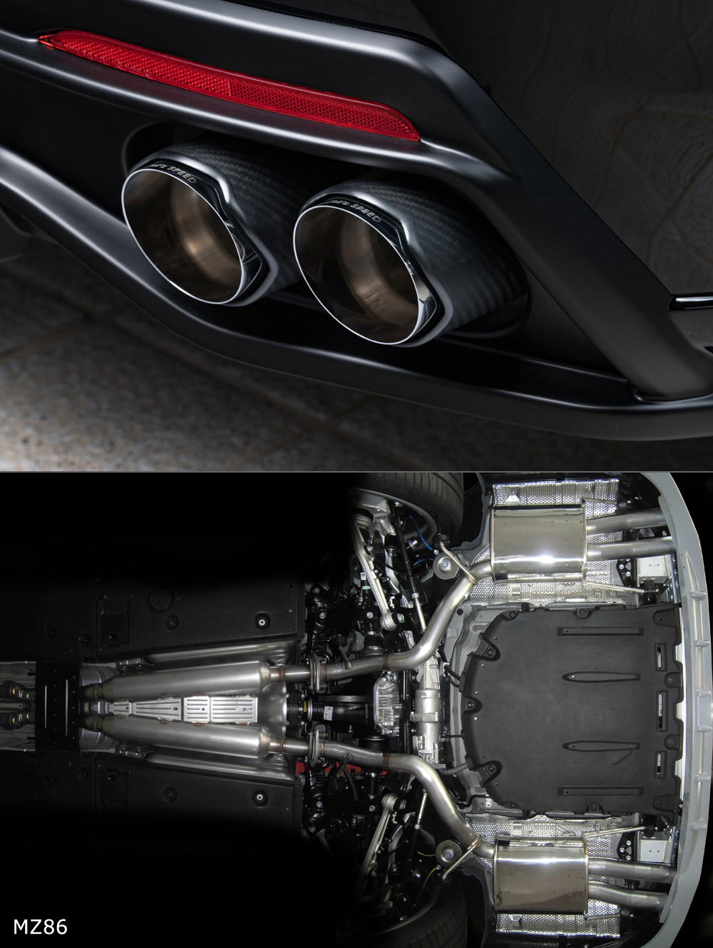 Exhaust System 左右4本出し カーボンテール